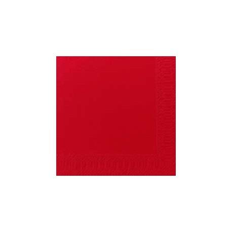 Serviettes 33x33 3 couches rouge