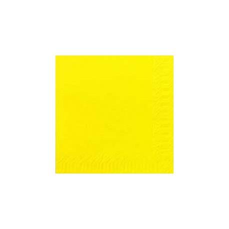 Serviettes 33x33 3 couches jaune