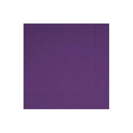 Serviettes 33x33 3 couches plum