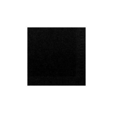 50 Servietten 33x33, 3 lagig, schwarz