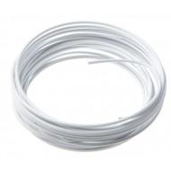 Fil métallique, aluminium, 2 mm, 5 mètres, blanc