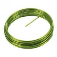 Fil métallique, aluminium, 2 mm, 5 mètres, vert