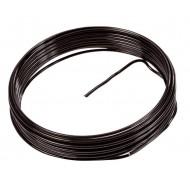 Fil métallique, aluminium, 2 mm, 5 mètres, noir