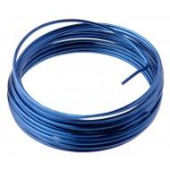 Fil métallique, aluminium, 2 mm, 5 mètres, bleu foncé