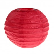 Lanterne XL, papier, 50 cm, sachet de 1 pièce, rouge
