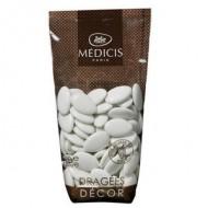 Dragées décor chocolat,70% cacao, turquoise, 250gr