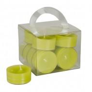 12 Teelichter, kiwi