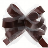 Nœud automatique, tulle, chocolat