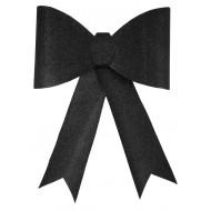 Grand nœud pailleté noir, 30 x 38 cm, sachet de 1 pièce