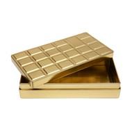 Tablette chocolat métalissée, or, 1 pièce