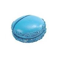 Marque place macaron turquoise, sachet de 2 pces