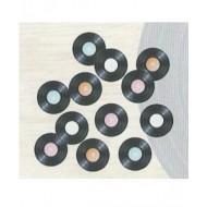 Sachet de 16 confettis de table, disque vinyle