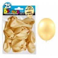 25 Ballons crystal, metallisiert, cream