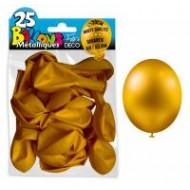25 Ballons crystal, metallisiert, gold