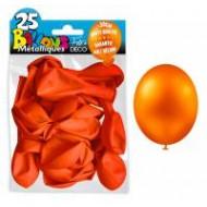 25 Ballons crystal, metallisiert, orange