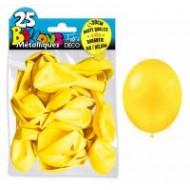 25 Ballons crystal, metallisiert, gelb