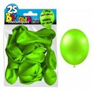 25 ballons métal vert pomme, ø 30 cm