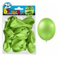 25 ballons métal vert anis, ø 30 cm