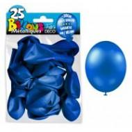 25 ballons métal bleu marine