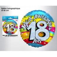 """1 Heliumballon """"18 ans"""""""