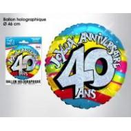 """1 Heliumballon """"40 ans"""""""