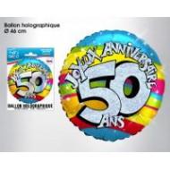 """1 Heliumballon """"50 ans"""""""