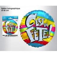 Ballon hélium C'est la Fête, ø 46 cm