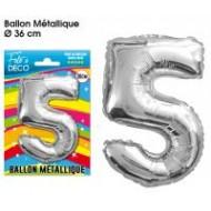1 Ballon mit Metall-Aspekt, Nummer 5