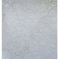 1 Tischläufer, Milchstrasse weiss, mit silber pailleten, 30 cm x 5m