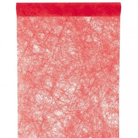 """Tischläufer """"Fanon"""", rot, 30 cm x 5 meter"""
