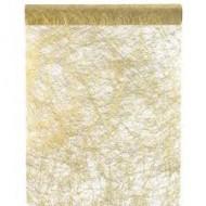 """1 Tischläufer, """"Fanon"""", metallisiert, gold, 30 cm x 5 meter"""