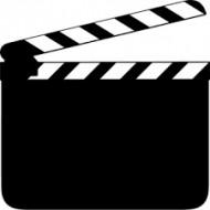 Ardoise clap de fin de film grand modèle 15cmx12cm