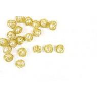 20 Tischdeko gold Perlen / metallisiert