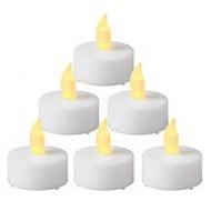 Set 6 leds blanc chauffe-plat diam. 4 cm