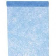 Chemin de table, fanon, turquoise, 0.30 cm x 5 mètres