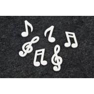 Note de musique en bois, 25 pièces, noir