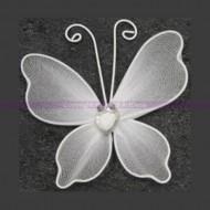 10 Papillons déco. petit modèle blanc