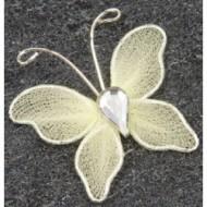 10 Papillons déco. petit modèle ivoire