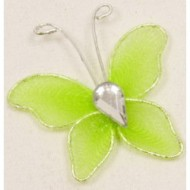 10 kleine Schmetterlinge, grün