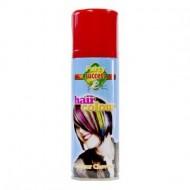 Laque pour cheveux couleur rouge