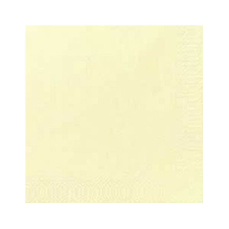 125 Zelltuch-Servietten, uni, 3 lagig 40x40 1/4, cream