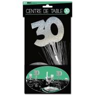"""Centre de table """" 30 ans"""", palmier argenté"""