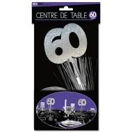 """Centre de table """" 60 ans"""", palmier argenté"""
