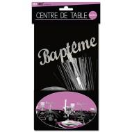 """Centre de table """" Baptême"""", palmier argenté"""