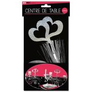 """Centre de table """" coeur"""", palmier argenté"""