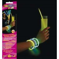 Tube mit 100 fluoreszierenden Armbändern 5 mm x 200 mm, sortierte 20x5 Farben