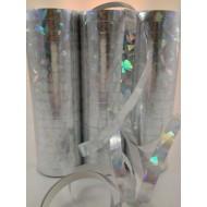 Lot de 3 serpentins hologramme 4 m, argent