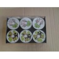 6 Kerzen, Schornsteinfeger, Schwein, vierblättriges Kleeblatt, ø 4 cm