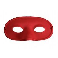 Masque loup de couleur rouge