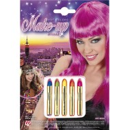 Maquillage, crayons, couleurs assorties